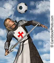 Saint George heading a football - St. George, the Patron...