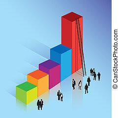 business concept of achieving success