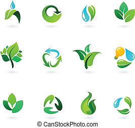 Environmental icons - Environmental and nature icons