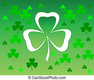leaf clover on green background trefoils