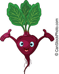Beetroot Presenting Something - Cartoon cute beetroot...