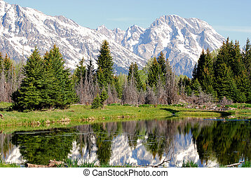 Teton Mountain Range - Mt Moran and the Teton Mountain Range...
