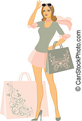 shopping lady - shopping women