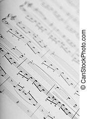 music sheet - extreme closeup of a music sheet texture