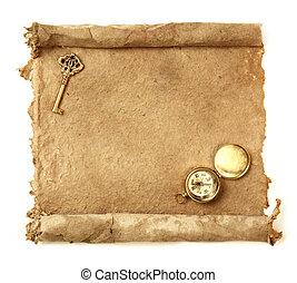 papel, feito à mão,  Scroll