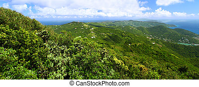Panoramic View of Tortola - Panoramic view of Tortola from...