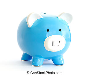 piggy bank - blue piggy bank