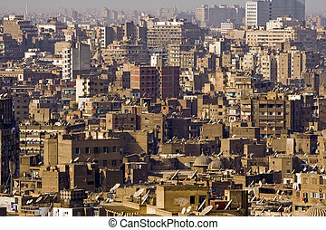 Cairo - View of Cairo, one of the most densely populated...
