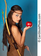 Archer and apple - Sagittarius or Archer woman, this photo...