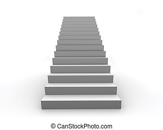 Success business staircase - One Staircase 3D illustration