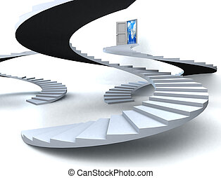 3D Success business staircase scene - Various Staircases...