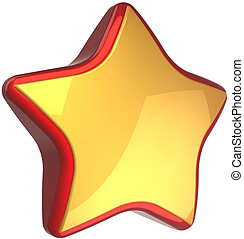 Star shape golden with red border - Golden star shape luxury...