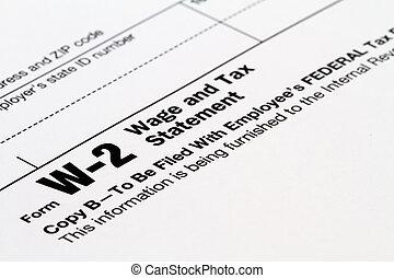 W-2 form - W-2 tax form