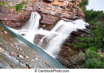 Cameron Falls in Waterton National Park in Alberta, Canada
