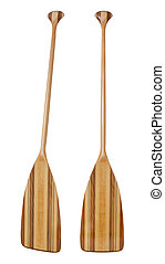 bent shaft wood canoe paddle - wooden (basswood, butternut...