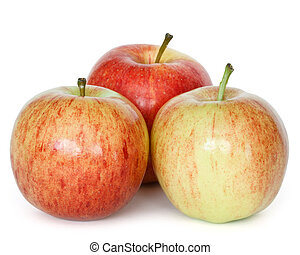 gala apples - three gala apples