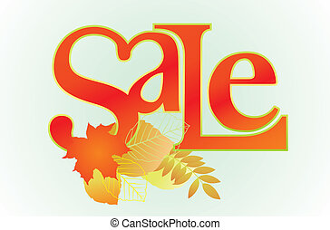 """Sale"" word for sales promotion. - Vector illustration of..."