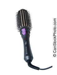 Hair Styling Brush - Photo of a hair styling brush isolated...