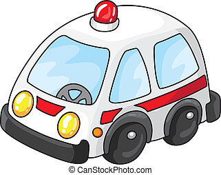 ambulance car - Illustration of a white ambulance car