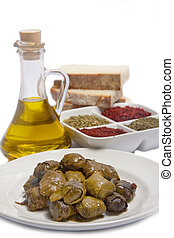 Turkish Dolmas - Dolmas with olive oil and bread