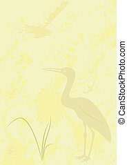 background with heron - vector - Abstract illustration of...