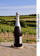 Big bottle - Big champagne bottle in Nieder-Oesterreich...