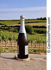 Big bottle - Big champagne bottle in Nieder-Oesterreich...
