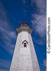 Prince Edward Island Lighthouse - Weathered wooden...