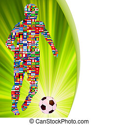 Soccer Player in Global Soccer Event EPS 8 - Soccer Player...