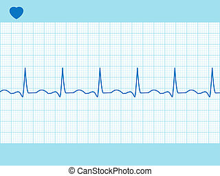 Heart cardiogram fully editable EPS 8 - Fully editable and...