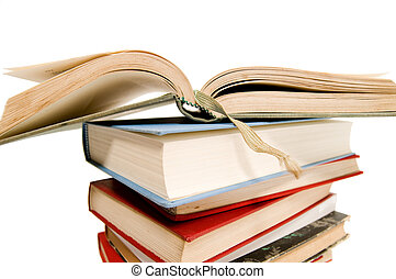 Open book for school on white backgrounds