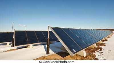 Solar heating plant