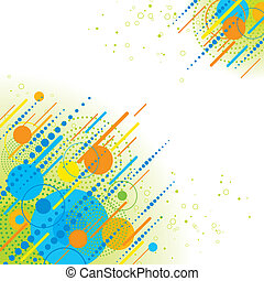 Abstract geometric background - Vector abstract background...