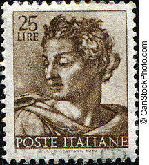 ITALY - CIRCA 1961: A stamp printed in Italy shows Isaiah,...