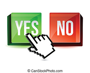 Selecting yes