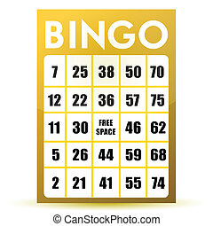 bingo card illustration design isolated over a white...