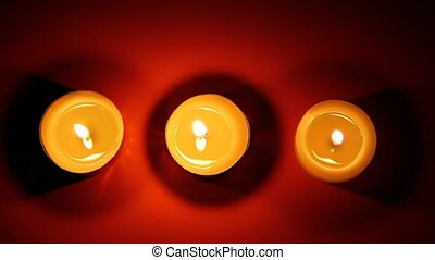 Close up of a candles is lit