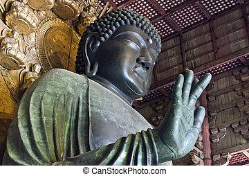 Giant Buddah Todaij Nara Japan