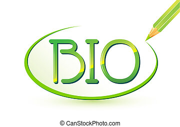 Bio written with Pencil - illustration of bio text writtn...