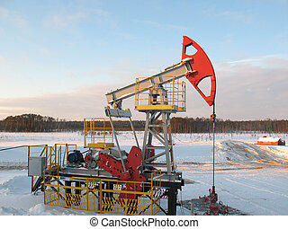 Pump jack 18 - Oil pump jack in work. Oil industry in West...