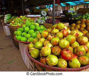 fruit stall - Stall at Vietnamese market at Sa Pa region