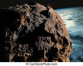 Asteroid against The Earth