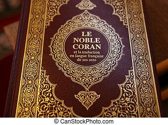 Corán, translated, francés, idioma