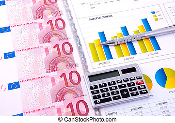 Financial Analysis with charts and european currency -...