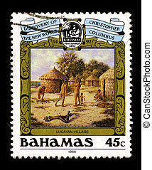 Postage stamp. - BAHAMAS-CIRCA 1988:A stamp printed in...