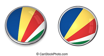 Banner Button Seychelles - button style banner in 3D of...