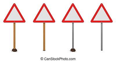 三角, 警告, 印, 変化