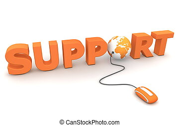 Browse the Global Support - Orange - modern orange computer...