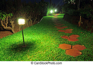 Walkway Stones on a grass pathway