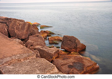 Rocky Lakeshore in Oakville Downtown